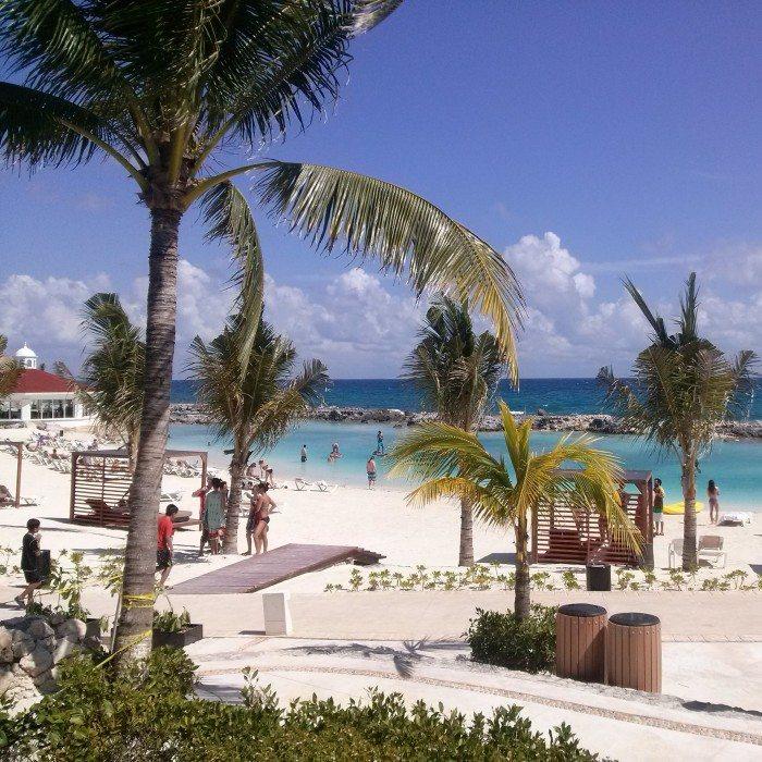 People enjoying the beach on sunny day at Hard Rock Hotel