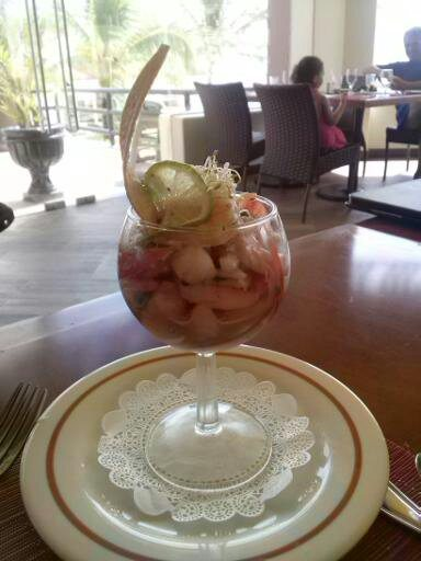 Sea food in a glass at Hard Rock Hotel