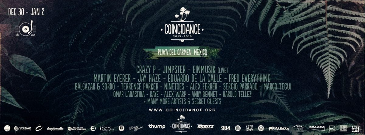 Coincidance poster with dates