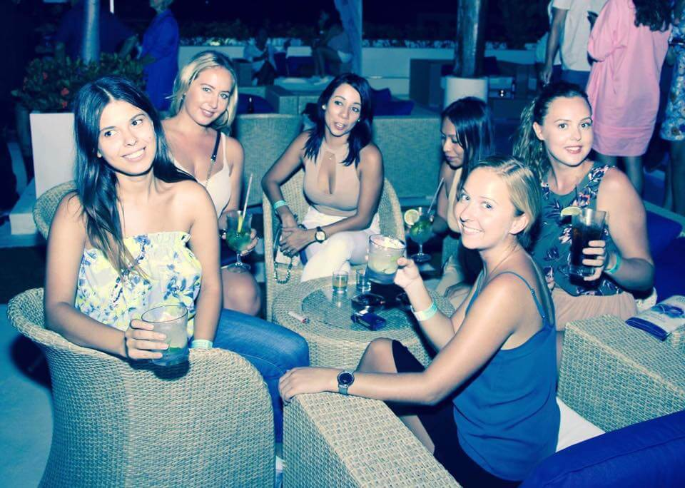 Socialising in Playa del Carmen