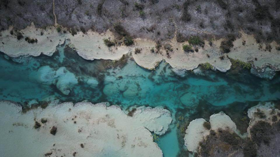 Aerial view of Bacalar