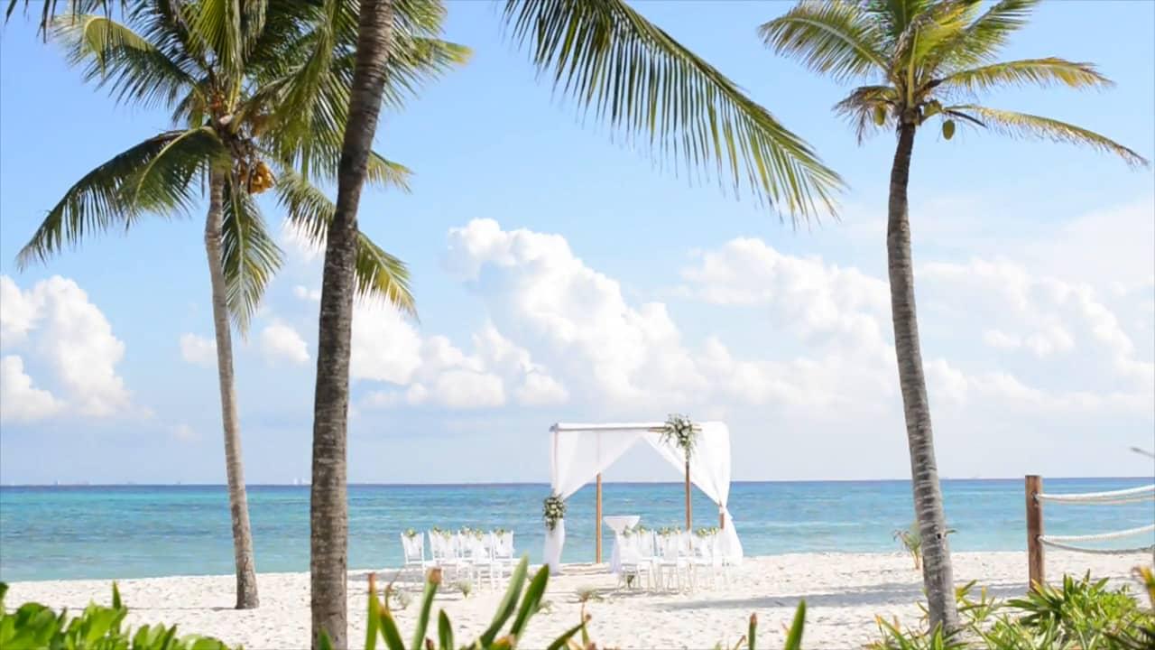 Grand Coral Beach Club Beach Wedding