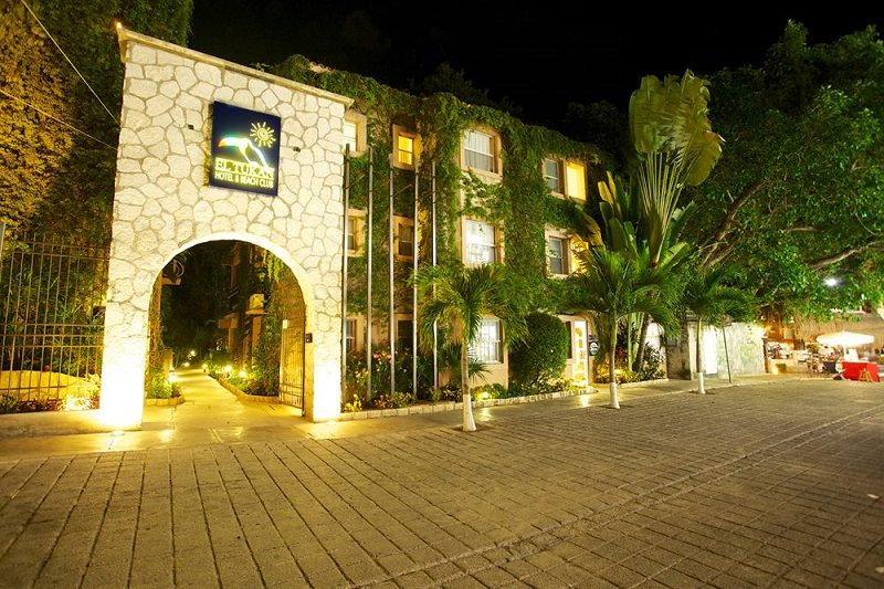 Tukan Hotel and Beach Club entrance