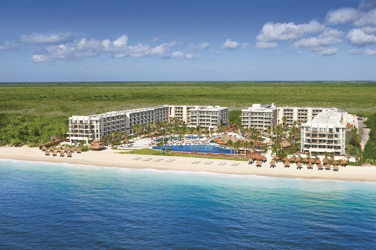 Dreams Riviera Cancun Hotel Aerial View