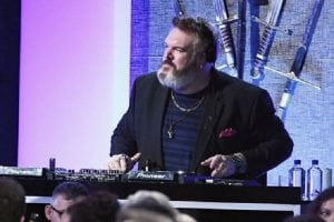 DJ Kristian Nairn a.k.a. Hodor playing a set at a Rave of Thrones show