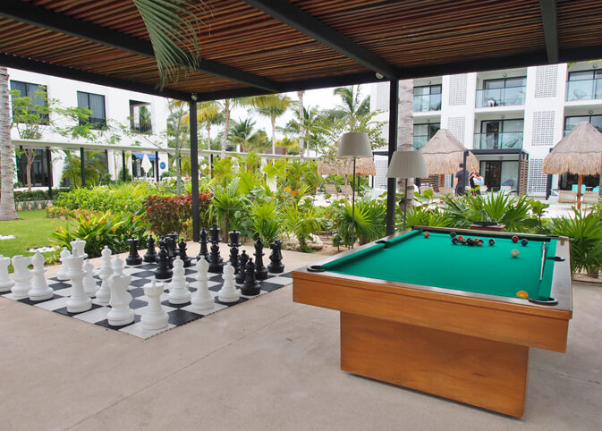 Pool and chess at finest Playa Mujeres