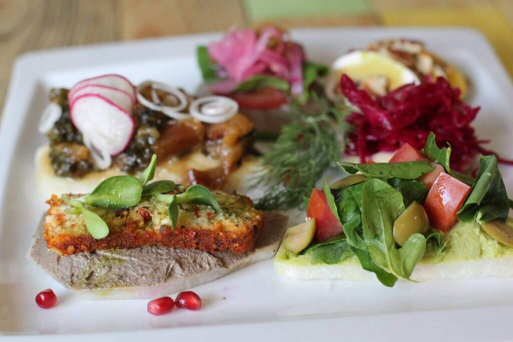 Food at Chlorofila Vegan Restaurant