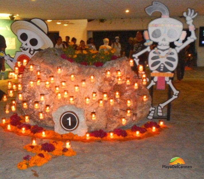 Day of the Dead night in Playa del Carmen