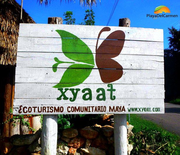 Sign of the Ecotourism Maya