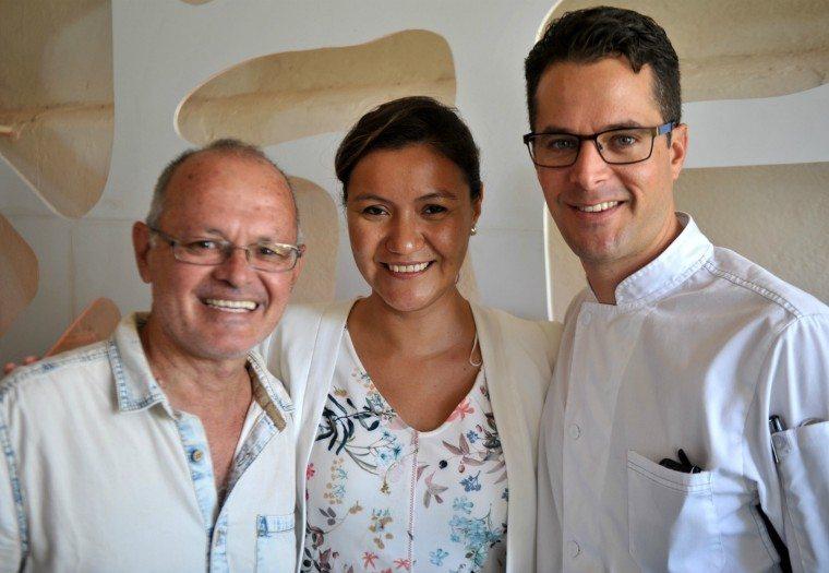 Javier Martinez, Edna Vega and Chef Pedro Abascal at Riviera Maya Mexican Wine Festival press conference