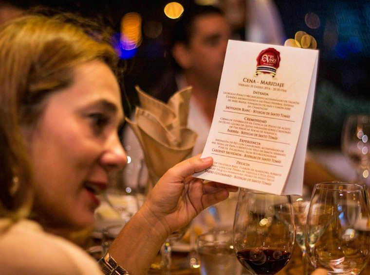 A wine pairing event at Riviera Maya Mexican Wine Festival