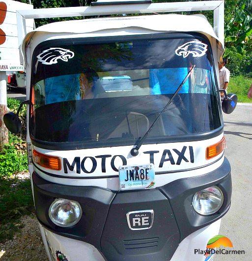Mayan moto Taxi