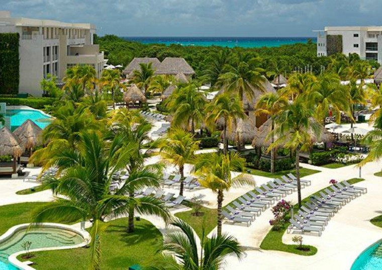Paradisus Esmeralda in Playa del Carmen as seen from a balcony of the hotel