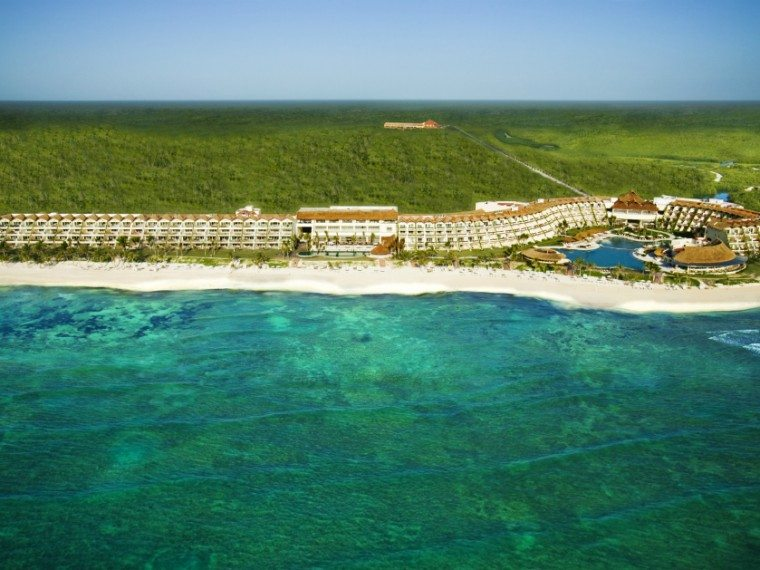 Aerial view of Grand Velas luxury resort in Mexico's Riviera Maya