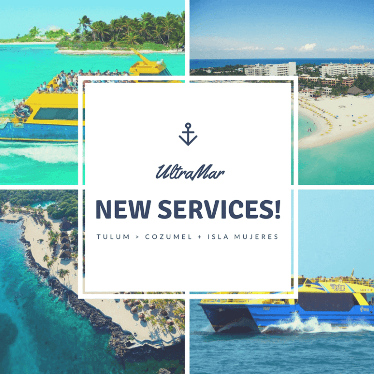 Ultramar's NEW Service Let's You Travel from TULUM to Isla Mujeres and Cozumel.