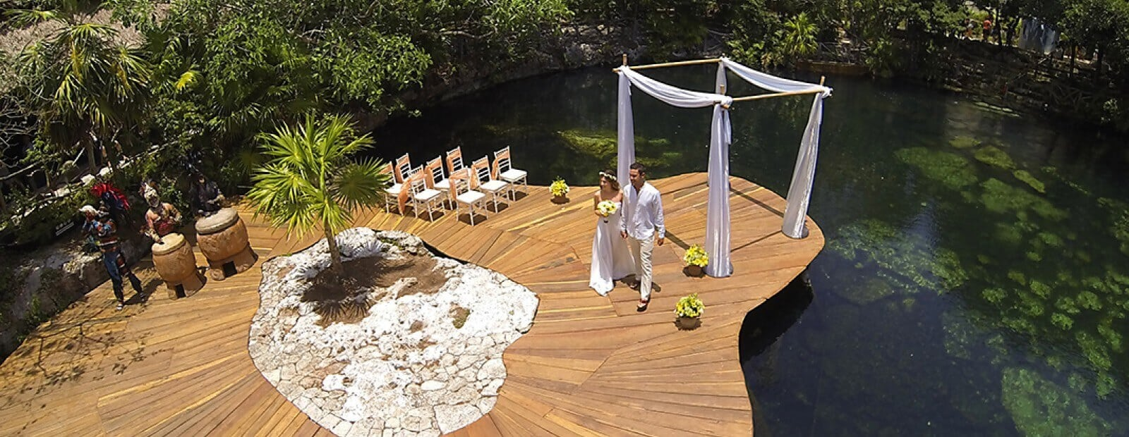 Sandos Caracol Cenote Location for the wedding Ceremony.