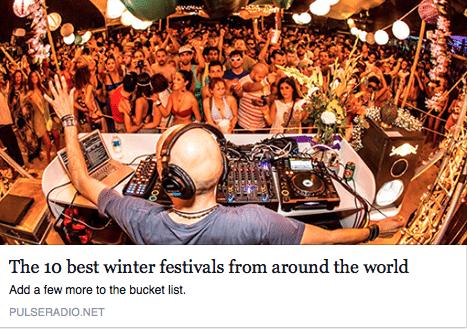 Screen Shot of pulseradio's top best winter festivals from around the world
