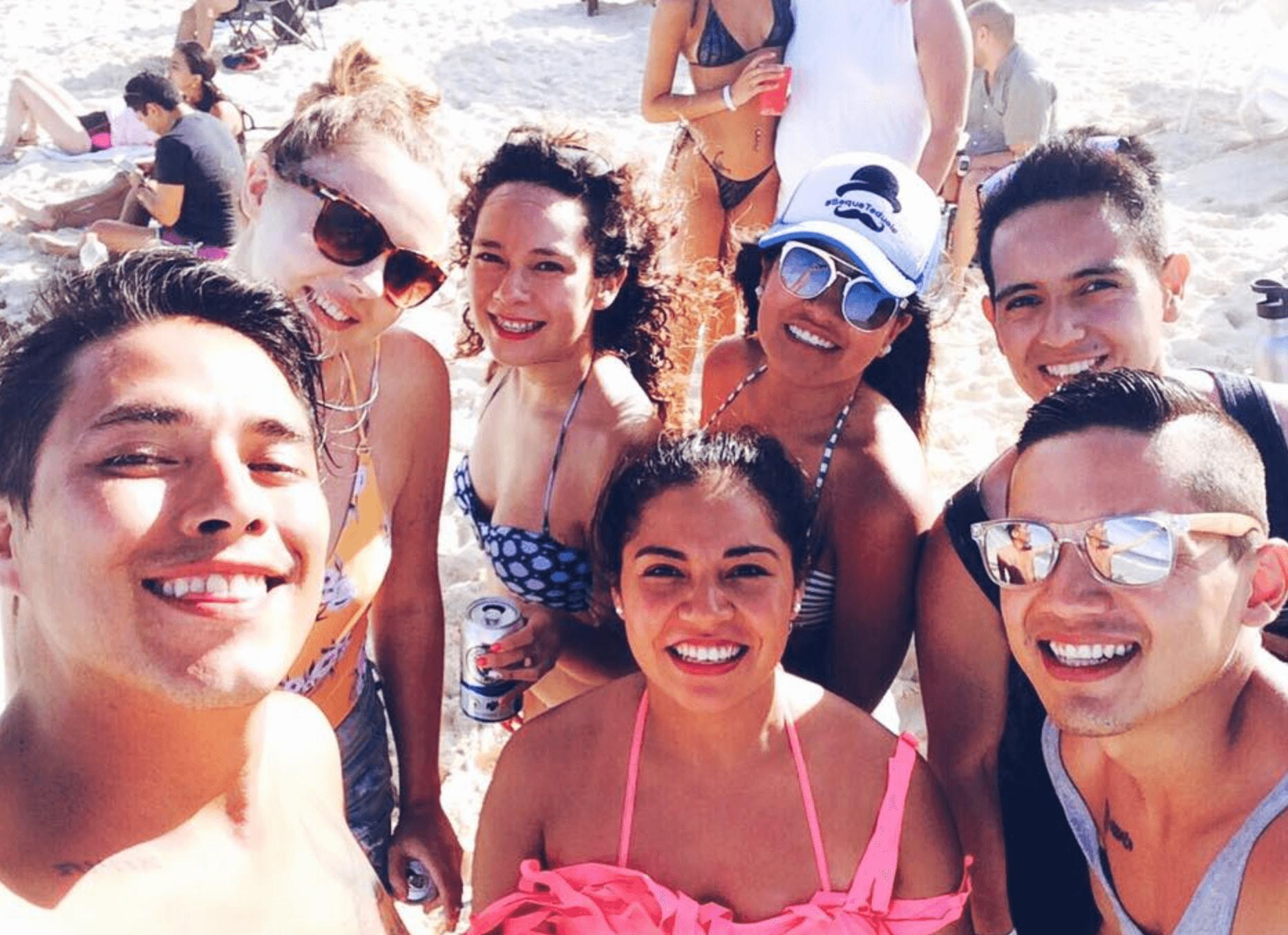 Friends in Playa del Carmen