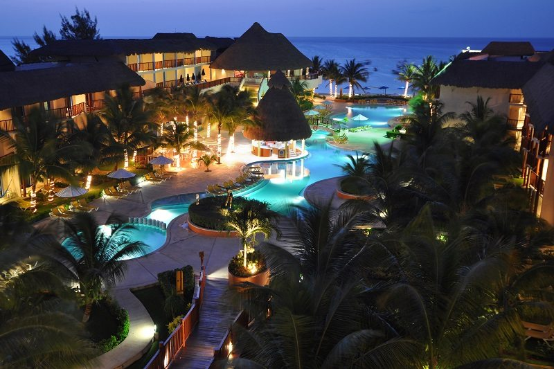 The Reef Coco Beach at night