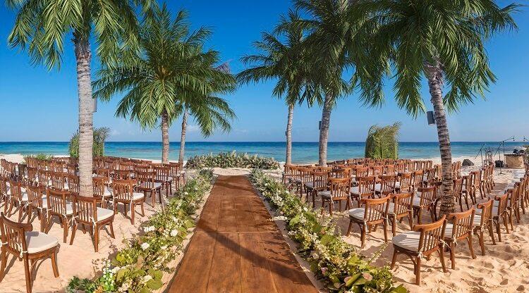 Wedding on beach at Xcaret
