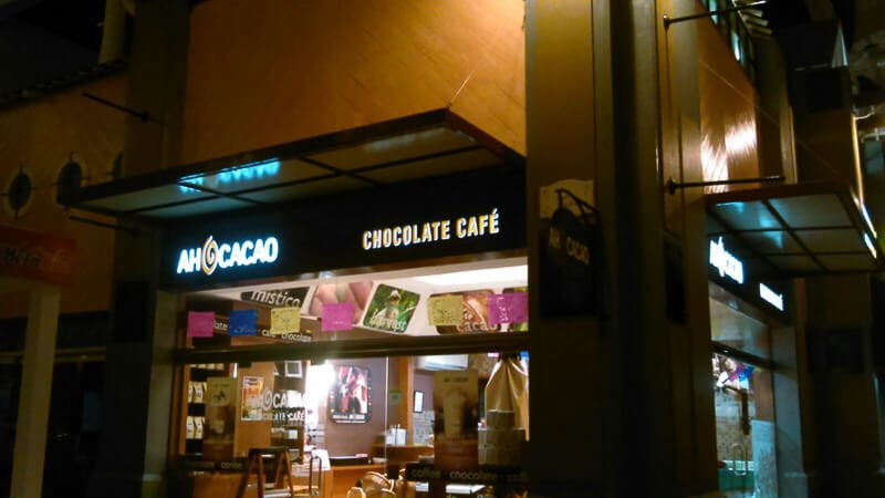 In front of Ah Cacao in Playa del Carmen