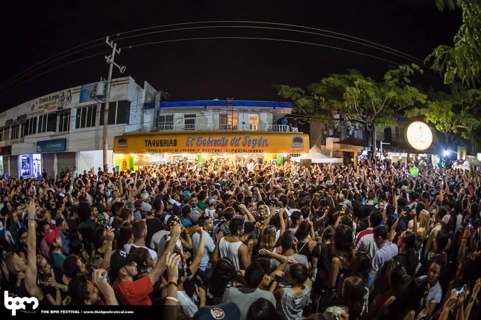 BPM Festival street party Playa del Carmen