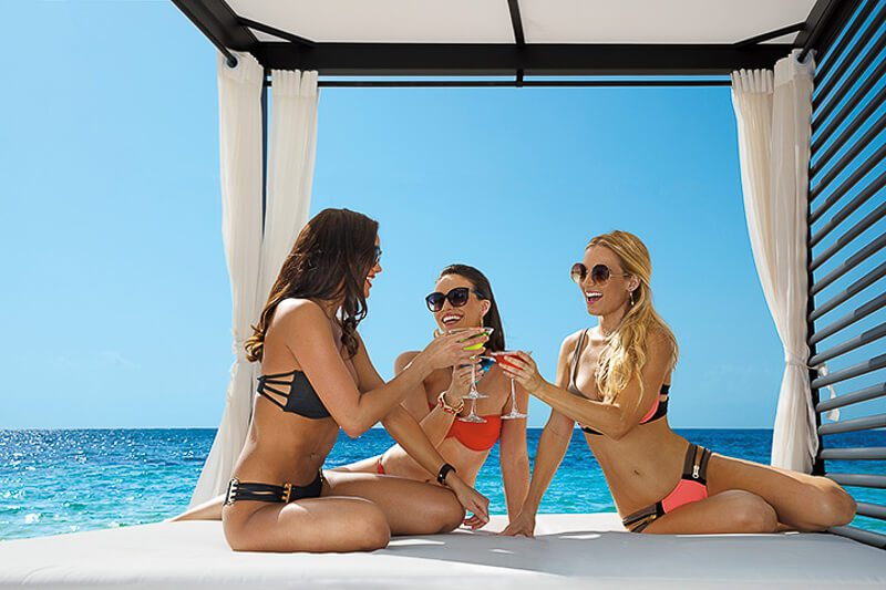 Seaside Drinks with Girls in Mexico