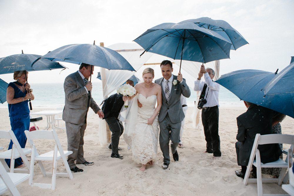 Rainy Wedding During Beach Wedding Mexico