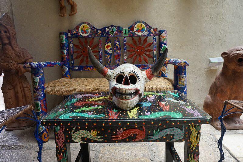 Mexican folk art at private museum Casa de los Venados in Valladolid