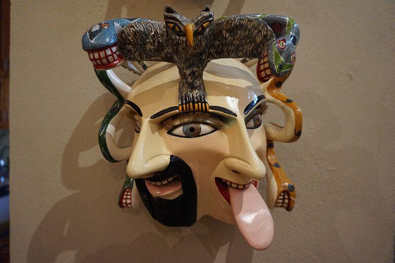 Mexican folk art on wall at Casa de los Venados