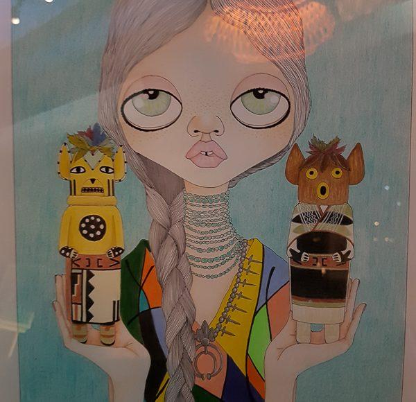 Barbala illustration by Charles Hart-Benton at Andaz Salon in Playa del Carmen