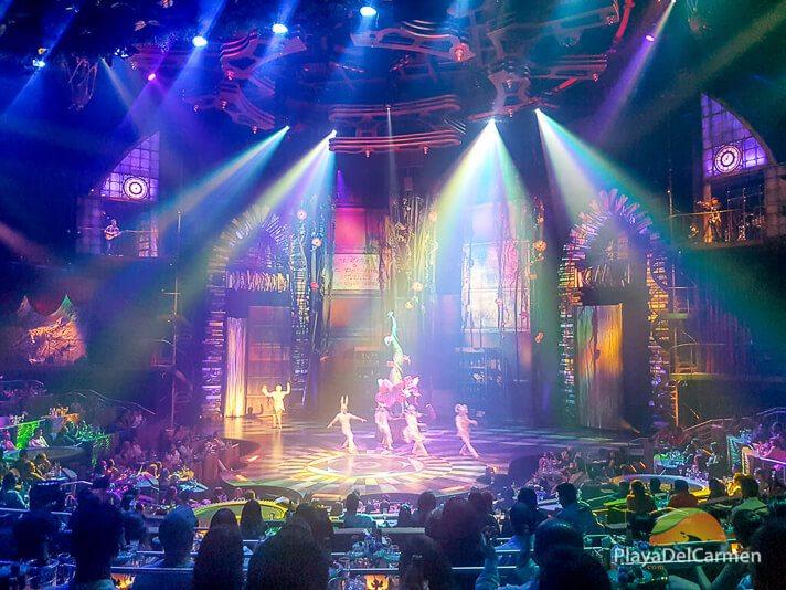 Actors perform during the Joya show at Cirque Du Soleil Riviera Maya