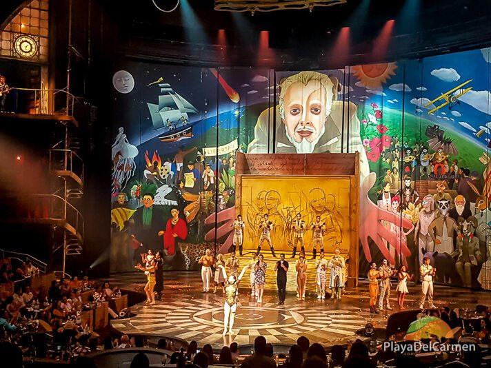 Actors wave to the crowd at Cirque Du Soleil Rivera maya