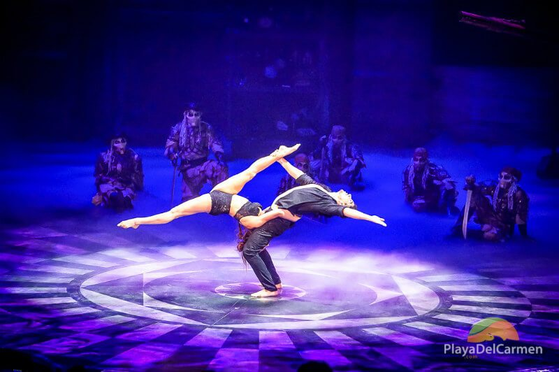 A dance act at Mexico's Cirque Du Soleil theater