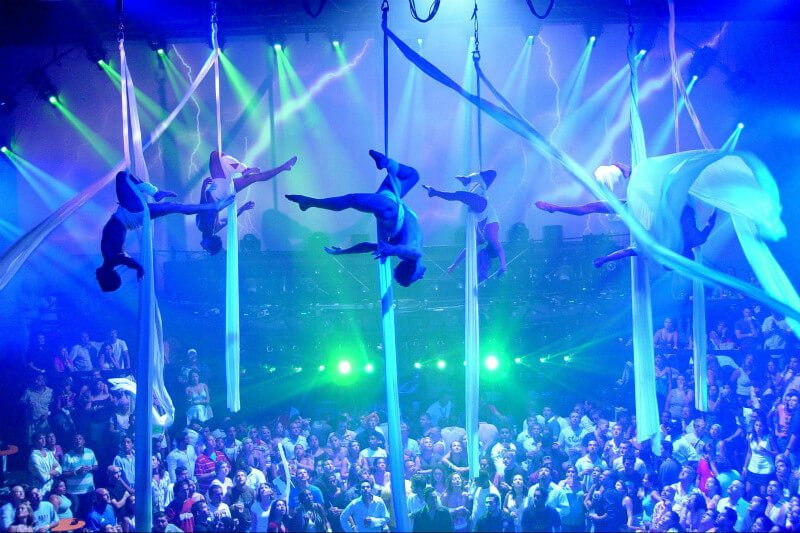 People performing on stage at Coco Bongo