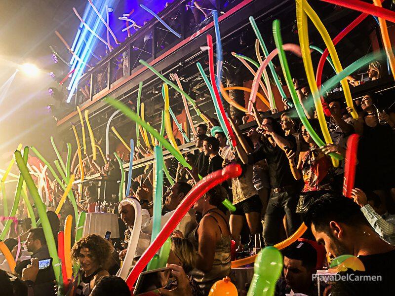 People partying at Coco Bongo in Playa del Carmen