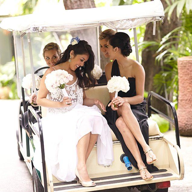 destination wedding transportation