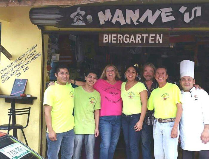 Manne's Biergarten German restaurant Playa del Carmen