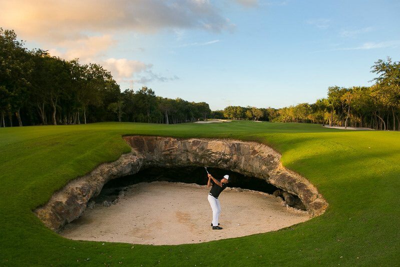 Hole 1 at El Camaleon Mayakoba