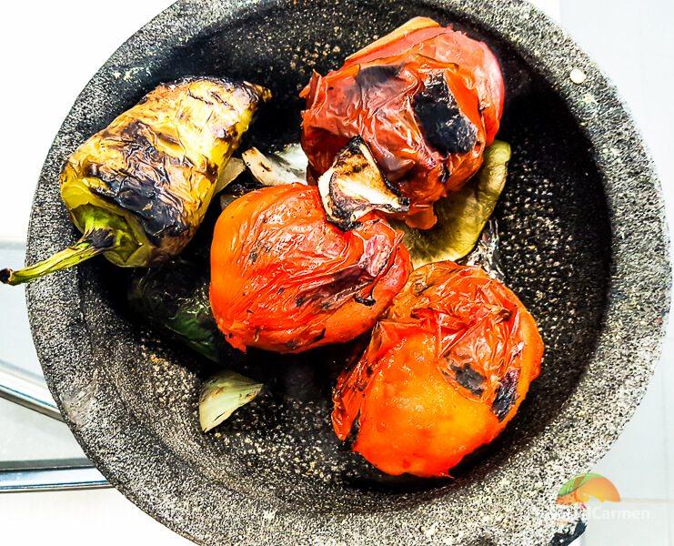 Molcajete at El Pueblito Cooking School Mayakoba