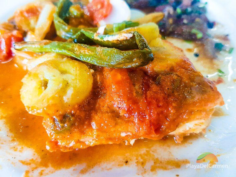 Tikin xic fish at El Pueblito Cooking School in Playa del Carmen