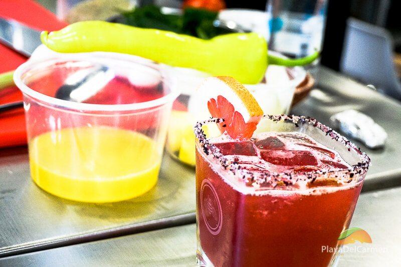 El Patron Tequila cocktails at El Pueblito Mayakoba Cooking School