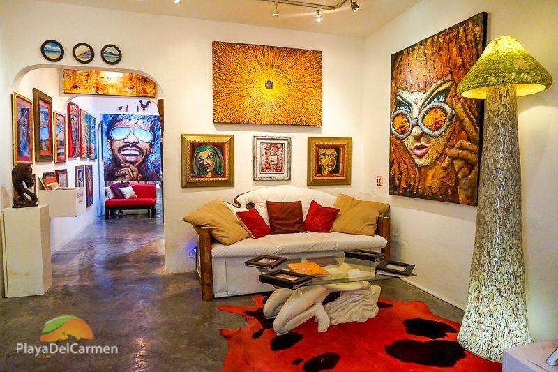 Playa del Carmen art gallery Gaston Charo