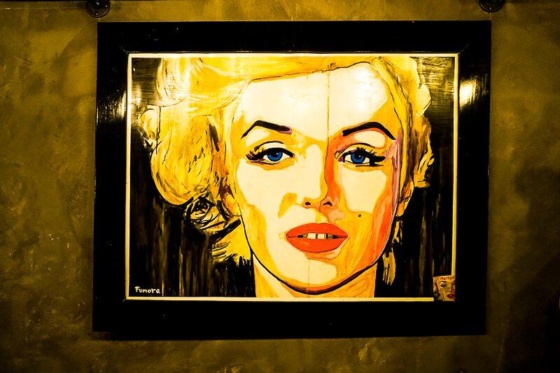 Alberto Fumora artwork in Glenn-Briggs Salon Playa del Carmen
