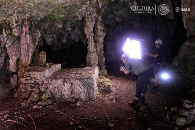 Mayan altar found in cave near Tulum