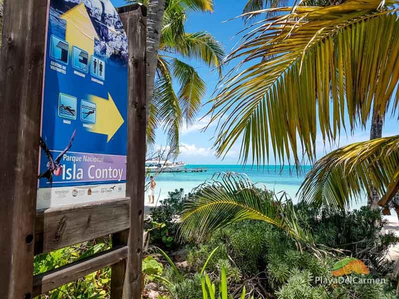 Isla Contoy tour sign