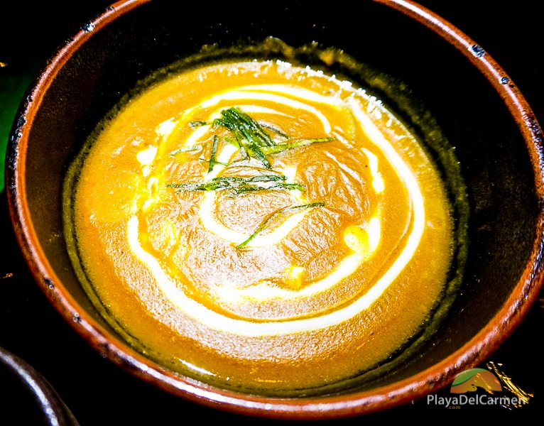 soup-like combination of coconut milk, yellow curry, and sweet potatoes at koh thai