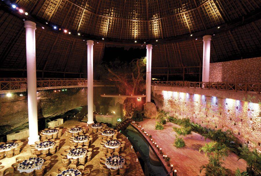 wedding reception area at xcaret