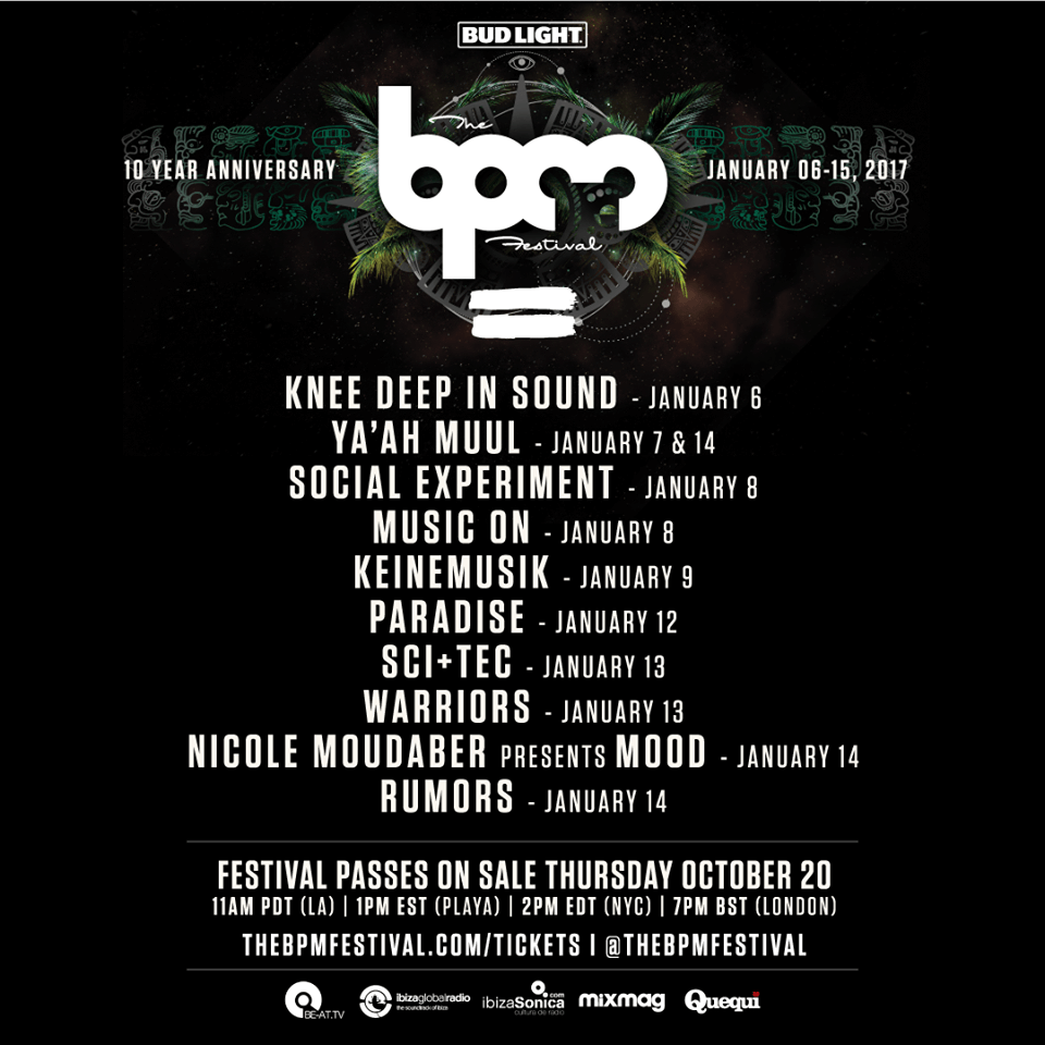 BPM poster with tour dates 2017