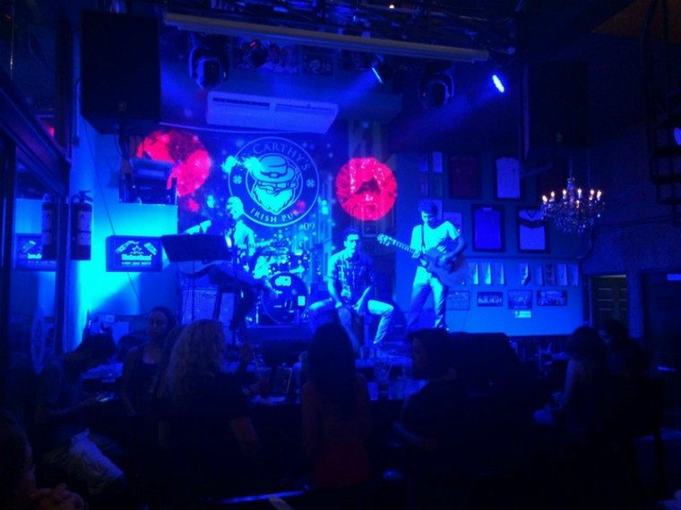 A red-headed stepchild rocks out at McCarthy's Irish Pub in Playa del Carmen